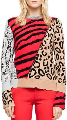 Zadig & Voltaire Delly Animal-Print Sweater