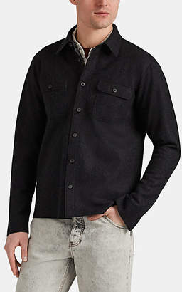 Barneys New York Men's Double-Faced Wool-Blend Felt Shirt Jacket - Charcoal