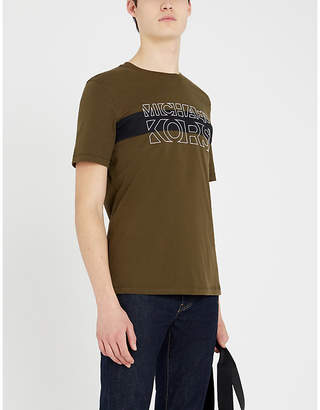 Michael Kors Logo-print cotton-jersey T-shirt