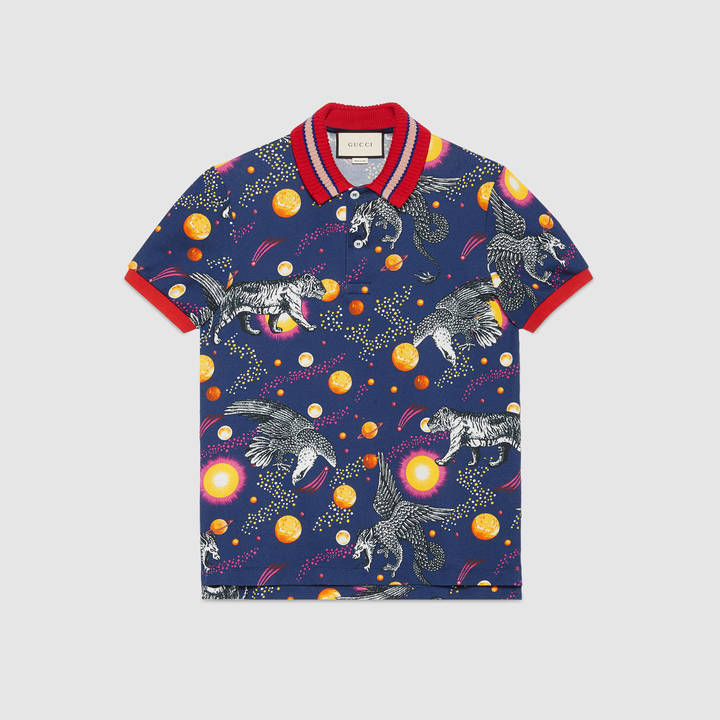 Space Animals print polo 5
