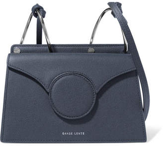 Danse Lente Phoebe Mini Textured-leather Shoulder Bag - Navy