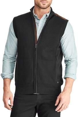 Chaps Full-Zip Sweater Vest