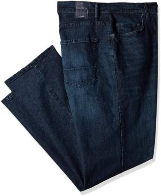 Nautica Men's Big Tall 5 Pocket Relaxed Fit Stretch Jean