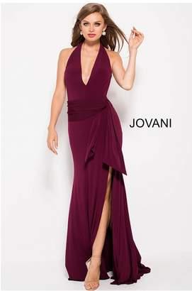Jovani Halter Plunging Gown