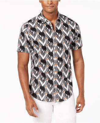 INC International Concepts I.n.c. Men's Elephant Print Shirt