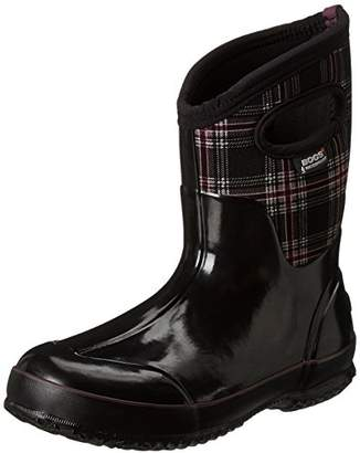 Bogs Women's Classic Mid Winter Plaid Waterproof Insulated Boot
