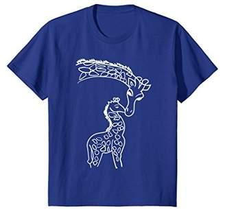 Giraffe T Shirt | Giraffe Print Shirt Gift Art