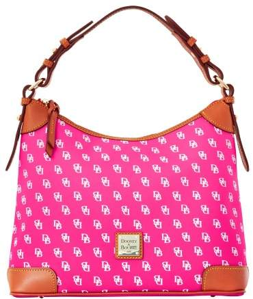 Dooney & Bourke Gretta Hobo Shoulder Bag - FUCHSIA - STYLE