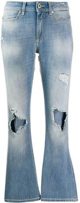 Dondup ripped flared jeans