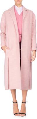 Victoria Beckham Virgin Wool Open-Front Duster Coat, Light Pink