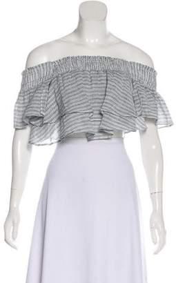 Apiece Apart Linen Off-The-Shoulder Top
