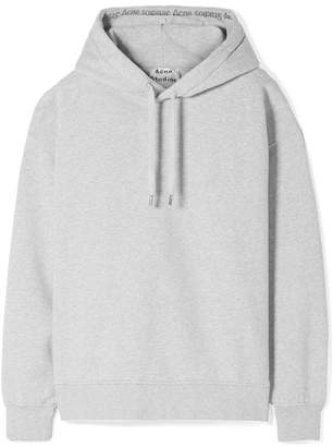 Acne Studios Yala Oversized Cotton-fleece Hooded Top - Light gray
