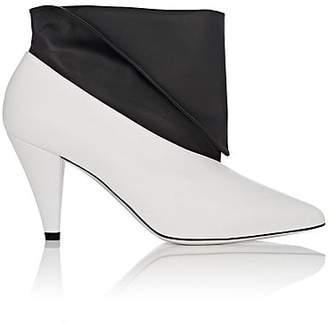 Givenchy Women's Foldover-Cuff Leather Ankle Boots - Wht.&blk.