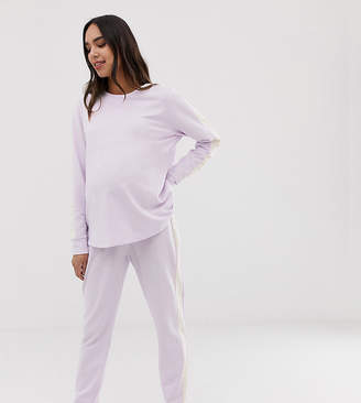 Asos Design DESIGN Maternity lounge minimal sweat & jogger set