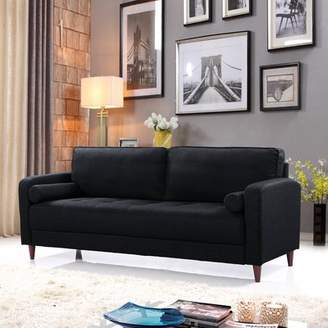 Madison Home USA Mid-Century Modern Linen Fabric Living Room Sofa