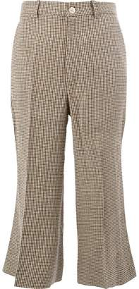 Gucci cropped houndstooth trousers