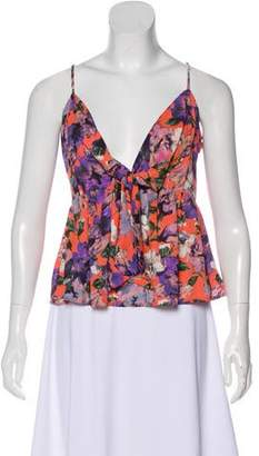 Leith Floral Print Sleeveless Top