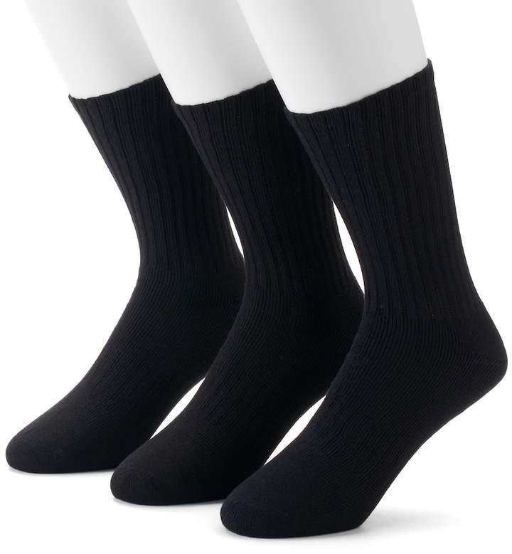 Dockers Men's Dockers 3-pack Enhanced Cushioned Crew Socks