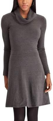 Chaps Petite Cowlneck Sweater Dress
