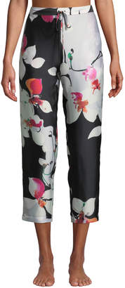 Natori Cattleya Floral-Print Lounge Pants