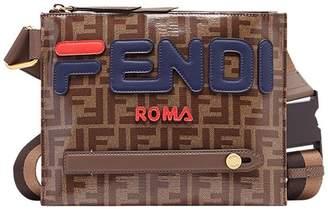 Fendi double F logo messenger bag