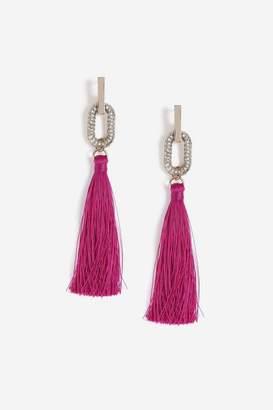 Topshop Rectangle Tassel Drop Earrings
