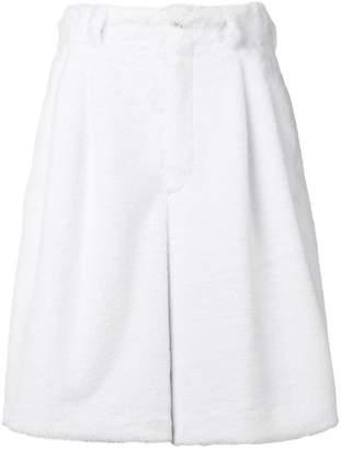 Comme des Garcons oversized fleece shorts