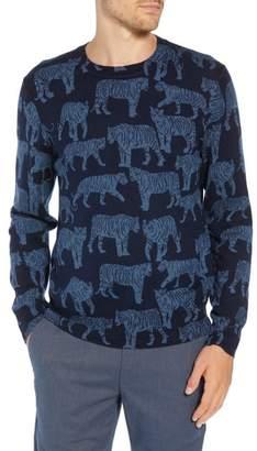 Bonobos Slim Fit Tiger Print Sweater