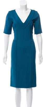Alberta Ferretti Sheath Midi Dress
