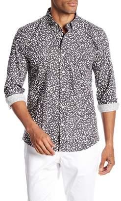 Saturdays NYC Crosby Slashes Geometric Print Shirt