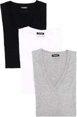 DSQUARED2 V-neck T-shirt pack
