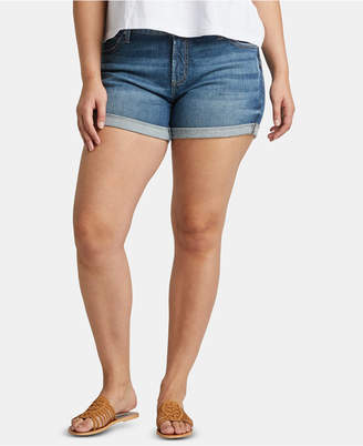 Silver Jeans Co. Plus Size Boyfriend Jean Shorts