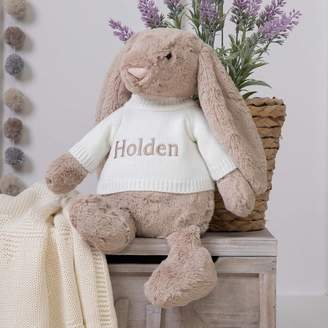 BEIGE That's mine personalised embroidered gifts Personalised Bashful Bunny Large Soft Toy