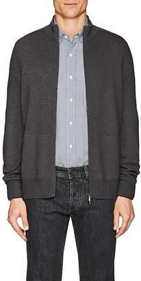 Loro Piana Men's Cashmere-Silk Zip-Front Sweater