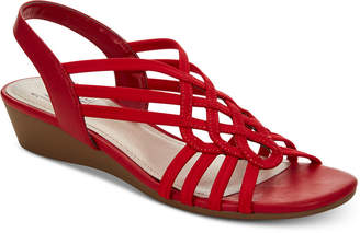 54367038adfd Impo Roma Stretch Slingback Wedge Sandals Women Shoes