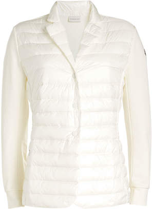 Moncler Quilted Down Jacket with Cotton Sleeves