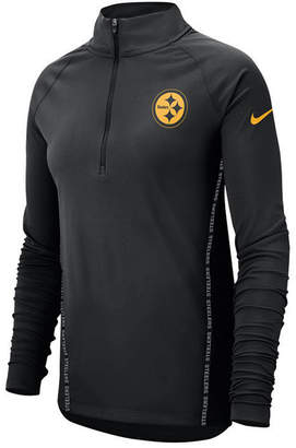 Nike Women's Pittsburgh Steelers Element Core Quarter-Zip Pullover