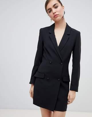 Monki mini blazer dress in black