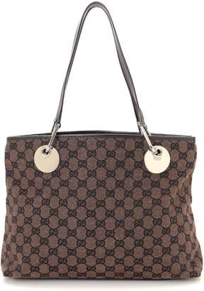 Gucci Brown GG Canvas Eclipse Tote Bag - Vintage
