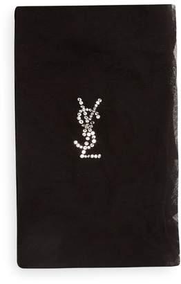 Saint Laurent Crystal-embellished sheer tights