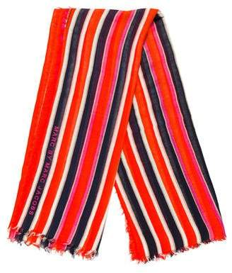 Marc by Marc Jacobs Stripe Printed Shawl