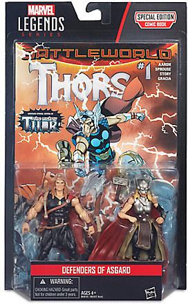 Marvel Legends Series Defenders of Asgard Action Figure Set - Thor & Odinson - 4'' H