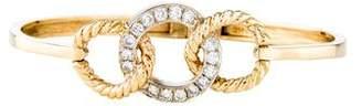 14K Diamond Circular Link Bangle
