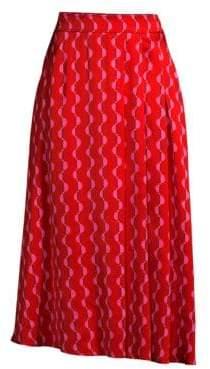 Beatrice. B Graphic Print Midi Skirt