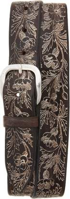 Orciani Wax Soapy Tooled Leather Belt