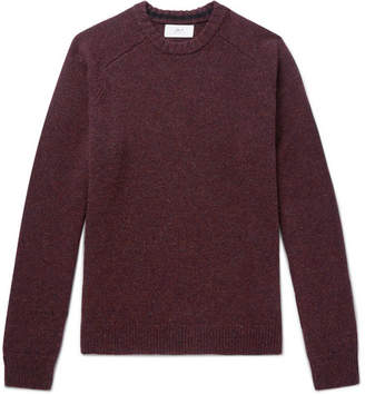 Mr P. - Melange Shetland Wool Sweater - Merlot