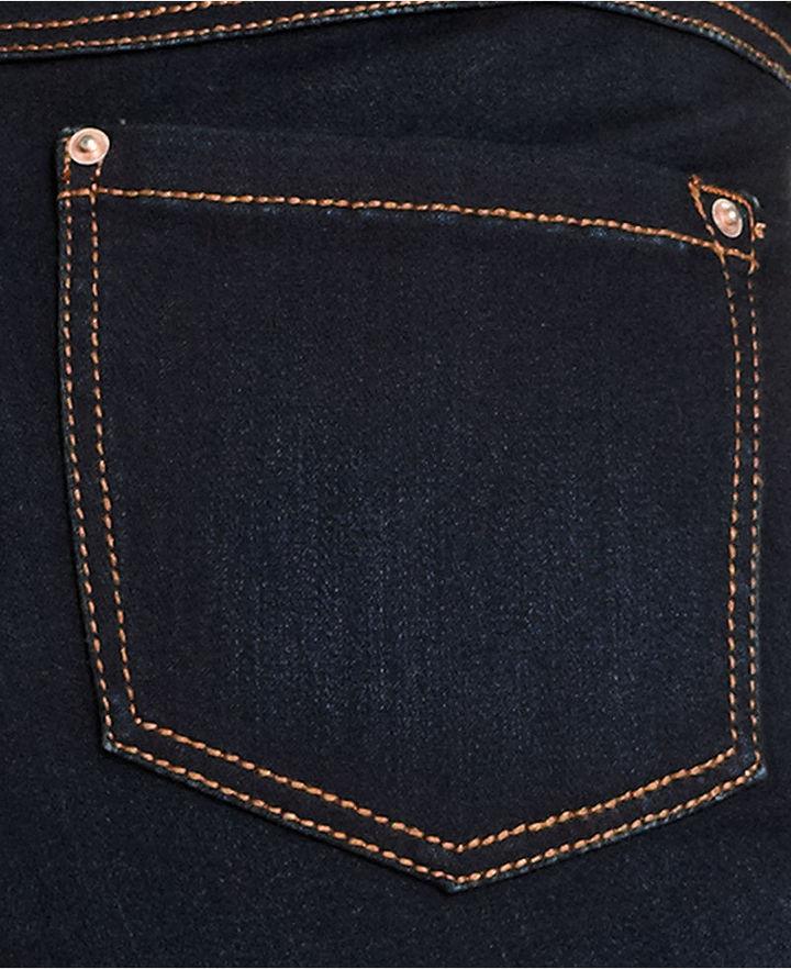 INC International Concepts Plus Size Straight-Leg Jeans, Dark Wash