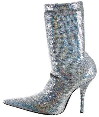 Balenciaga Party Sequined Booties w/ Tags