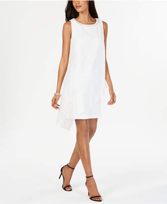 Connected Petite Asymmetrical Embellished Shift Dress