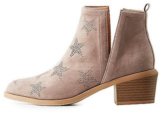 Perforated Star Slit Booties $38.99 thestylecure.com